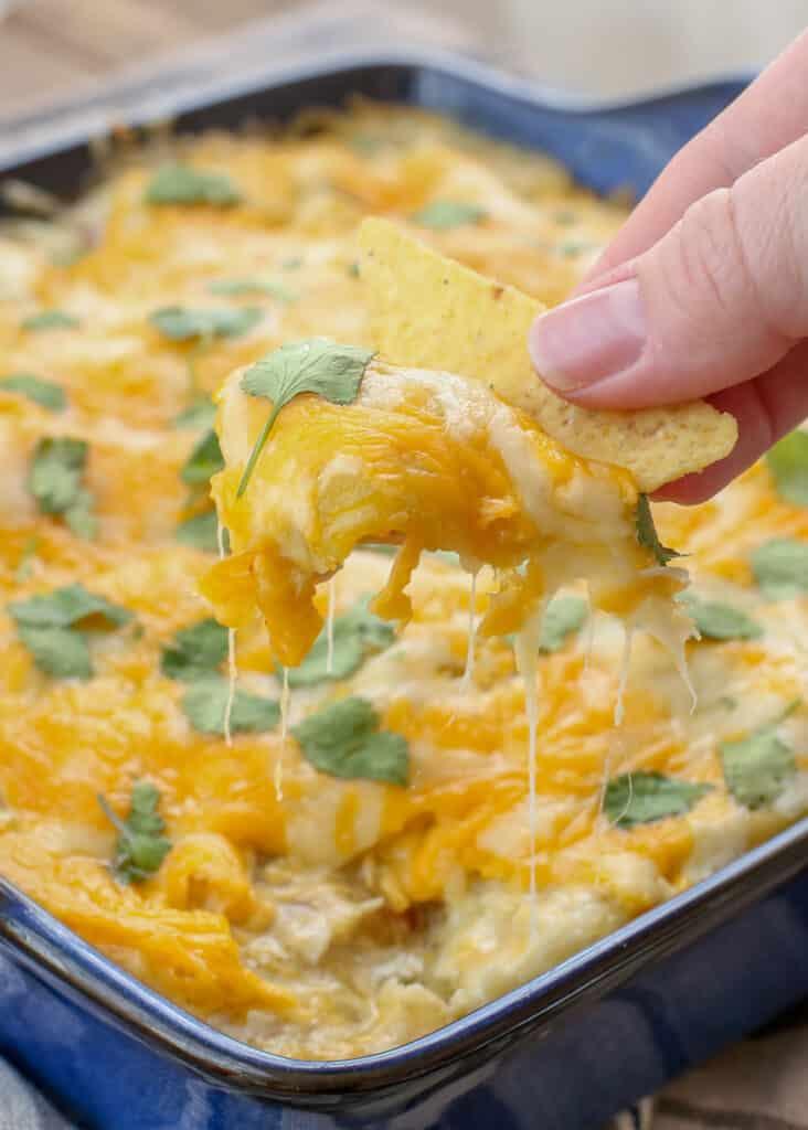 ¡Nadie puede resistirse a estas enchiladas de pollo con chile verde de 30 minutos! obtén la receta en barefeetinthekitchen.com