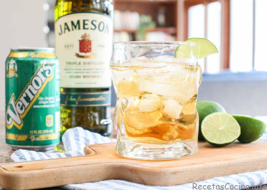 Jameson, jengibre y lima