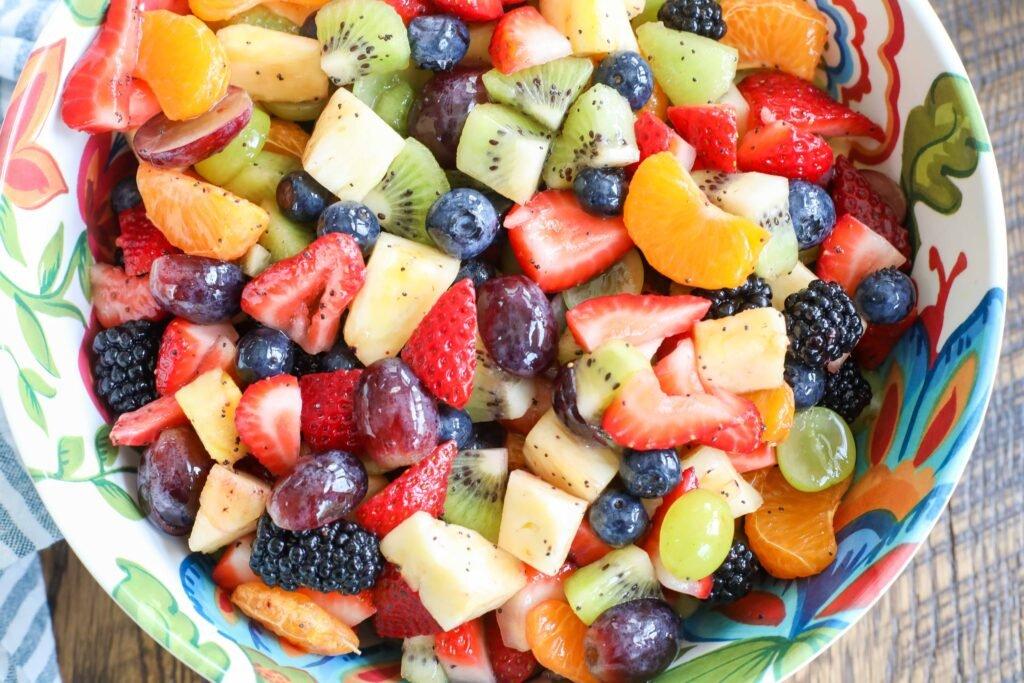 Ensalada de frutas arcoiris